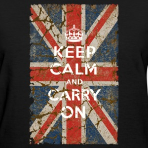 UK Flag and Keep Calm Hybrid - Women's T-Shirt