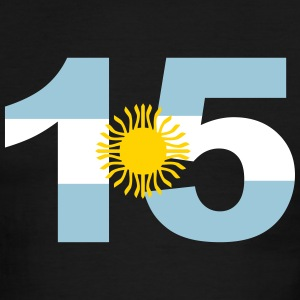 Argentinia Numbers, 15, Jersey Numbers Argentinia T-Shirts - Men's Ringer T-Shirt