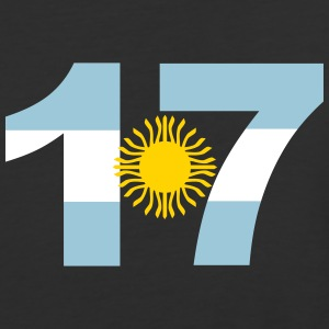 Argentinia Numbers, 17, Jersey Numbers Argentinia T-Shirts - Baseball T-Shirt