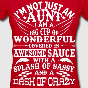 I AM NOT JUST AN AUNT! T-Shirts - Women's V-Neck T-Shirt