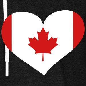 Canada Heart; Love Canada Zip Hoodies & Jackets - Unisex Fleece Zip Hoodie by American Apparel
