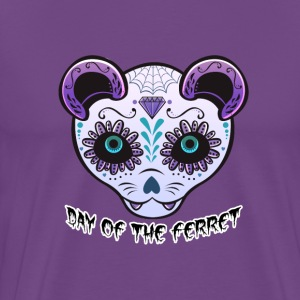 Purple Ferret Sugar Skull Mens Tshirt - Men's Premium T-Shirt
