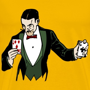 Card Trick Colorized - Men's Premium T-Shirt
