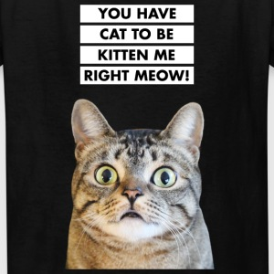 YOU HAVE CAT TO BE KITTEN ME RIGHT MEOW! Funny Cat Kids' Shirts - Kids' T-Shirt