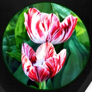 Elegant Pink And White Striped Tulips Caps - Bandana