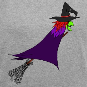 Witch flies on the broom T-Shirts - Women´s Rolled Sleeve Boxy T-Shirt