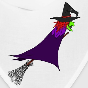 Witch flies on the broom Caps - Bandana