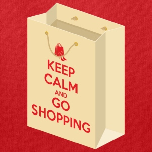 Keep calm and go shopping (bag 1) Bags & backpacks - Tote Bag