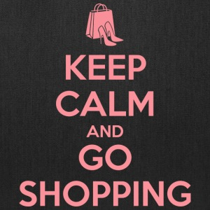 Keep Calm and Go Shopping Bags & backpacks - Tote Bag