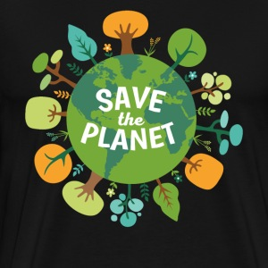 Save The Planet Ecology T-shirt T-Shirts - Men's Premium T-Shirt