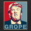 Trump Grope Poster Bags & backpacks - Tote Bag