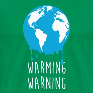 Warming Warning Ecology T-shirt T-Shirts - Men's Premium T-Shirt