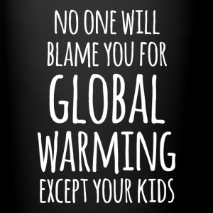 Global Warming Your Kids Ecology T-shirt Mugs & Drinkware - Full Color Mug