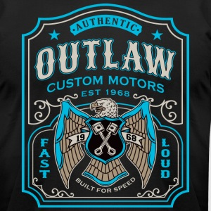 Outlaw Motors - Men's T-Shirt by American Apparel