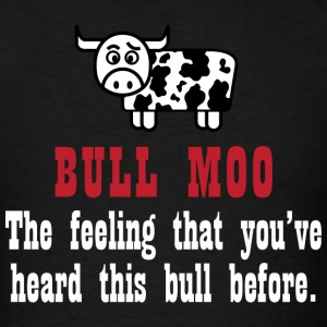 Bull Moo (white) T-Shirts - Men's T-Shirt