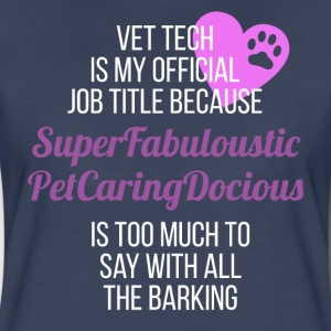 Vet Tech Super Fabuloustic Veterinary T-shirt T-Shirts - Women's Premium T-Shirt