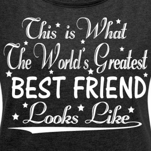 World's Greatest Best Friend... T-Shirts - Women´s Rolled Sleeve Boxy T-Shirt