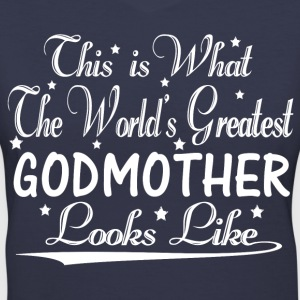 World's Greatest Godmother... T-Shirts - Women's V-Neck T-Shirt