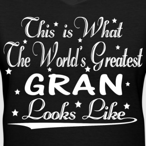 World's Greatest Gran... T-Shirts - Women's V-Neck T-Shirt