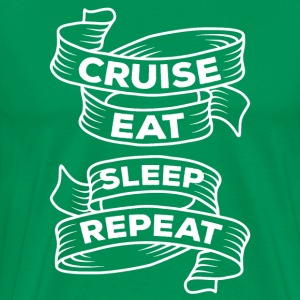 Cruise Eat Sleep Repeat Cruising T-shirt T-Shirts - Men's Premium T-Shirt