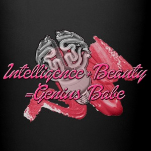 INTELLIGENCE+BEAUTY=Genius Babe Mugs & Drinkware - Full Color Mug