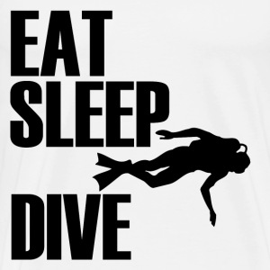 EAT SLEEP DIVE1.png T-Shirts - Men's Premium T-Shirt