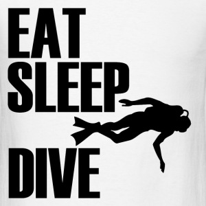 EAT SLEEP DIVE1.png T-Shirts - Men's T-Shirt