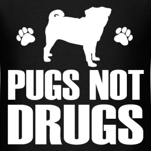 PUGS NOT DRUGS2.png T-Shirts - Men's T-Shirt