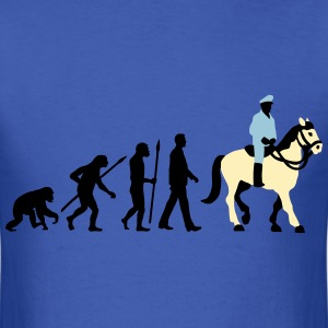 evolution_cop_on_horse_09_201603_3c T-Shirts - Men's T-Shirt