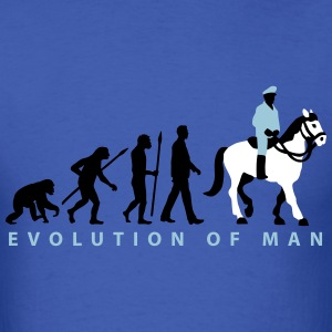 evolution_cop_on_horse_09_201602_3c T-Shirts - Men's T-Shirt