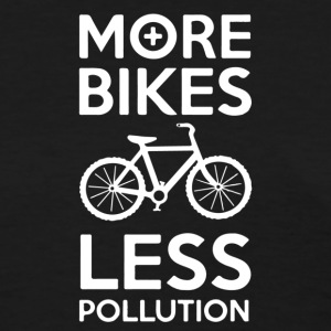 more bikes less pollution - Women's T-Shirt