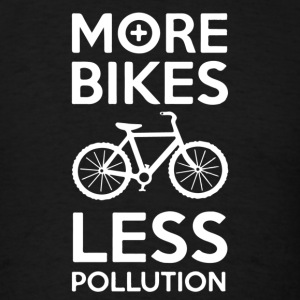 more bikes less pollution - Men's T-Shirt