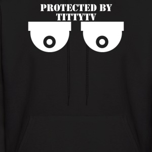 Protected By Titty Tv - Men's Hoodie