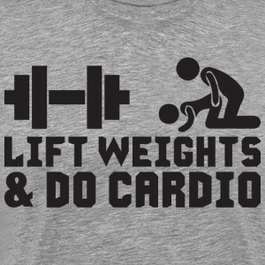 Lift Weights and Do Cardio T-Shirts - Men's Premium T-Shirt