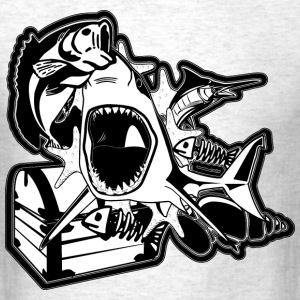Angry shark - Men's T-Shirt