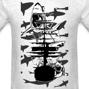 Lots of Sharks and a ship - Men's T-Shirt