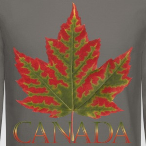 Canada Souvenir Shirts Men's Maple Leaf Sweatshirt - Crewneck Sweatshirt