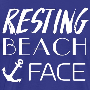 Resting Beach Face T-Shirts - Men's Premium T-Shirt