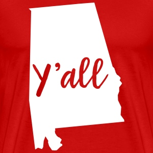 Y'all Alabama T-Shirts - Men's Premium T-Shirt