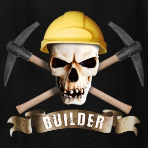 builder_pick_skull_a Kids' Shirts - Kids' T-Shirt