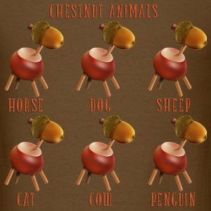 chestnut_animals_10_201602 T-Shirts - Men's T-Shirt