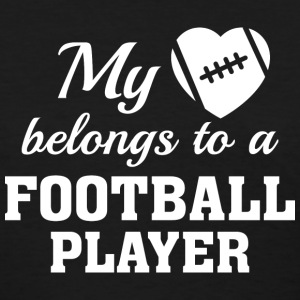 Heart Belongs Football - Women's T-Shirt