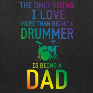 Drummer and Dad rainbow Bags & backpacks - Tote Bag