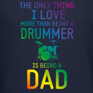 Drummer and Dad rainbow Long Sleeve Shirts - Crewneck Sweatshirt