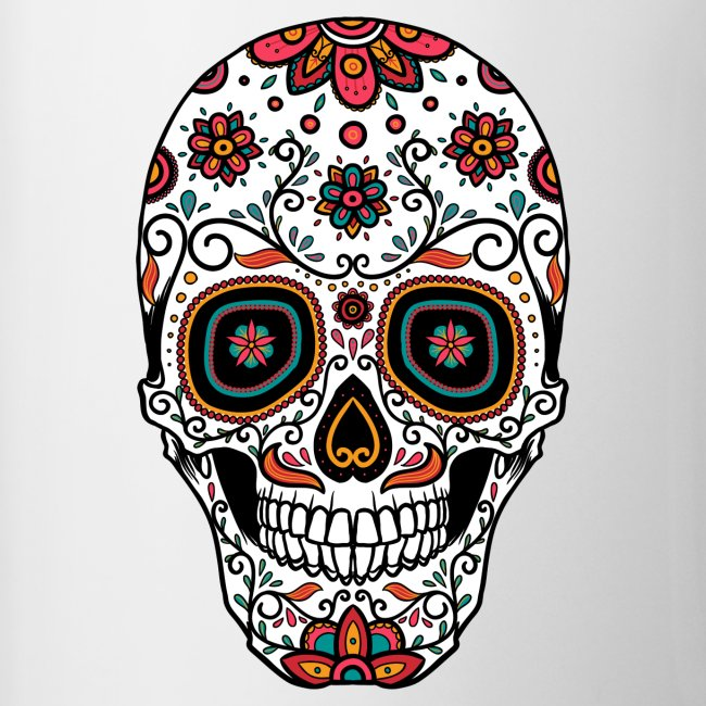 Crmn Sugar Skull Day Of The Dead 3 Coffeetea Mug