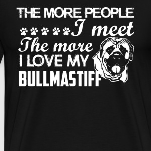 I Love My Bullmastiff - Men's Premium T-Shirt
