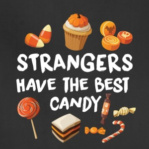 STRANGERS HAVE THE BEST CANDY - HALLOWEEN SHIRT! Aprons - Adjustable Apron