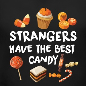 STRANGERS HAVE THE BEST CANDY - HALLOWEEN SHIRT! T-Shirts - Women's Maternity T-Shirt