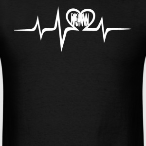 Backgammon Heartbeat Tee - Men's T-Shirt