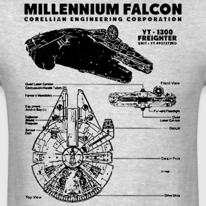 Millennium Falcon Blueprint T-Shirts - Men's T-Shirt
